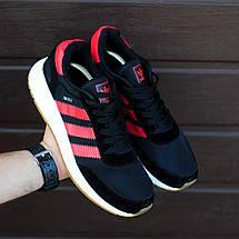 Мужские кроссовки Adidas Iniki Runner Boost Black/Red, фото 3