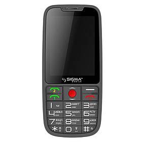 Кнопочный мобильный телефон Sigma mobile Comfort 50 Elegance 3 Gray (1600 mA)