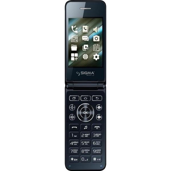 Кнопочный мобильный телефон раскладушка Sigma mobile X-Style 28 Flip blue