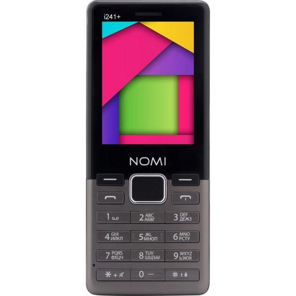 Кнопочный мобильный телефон Nomi i241+ dark Grey
