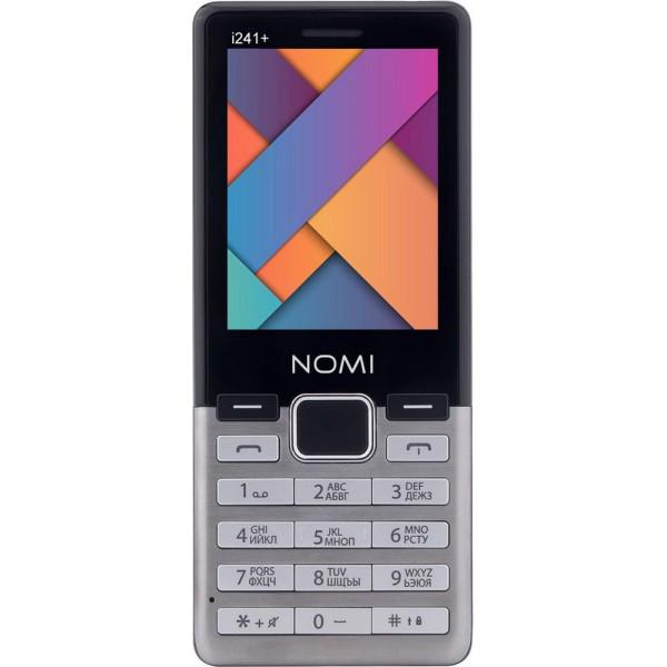 Кнопочный мобильный телефон Nomi i241+ metal-steel