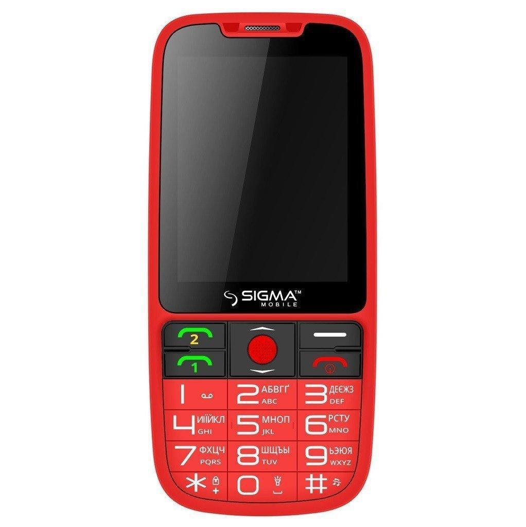 Кнопочный мобильный телефон Sigma mobile Comfort 50 Elegance 3 Red (1600 mA)