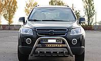 Кенгурятник Chevrolet Captiva с надписью