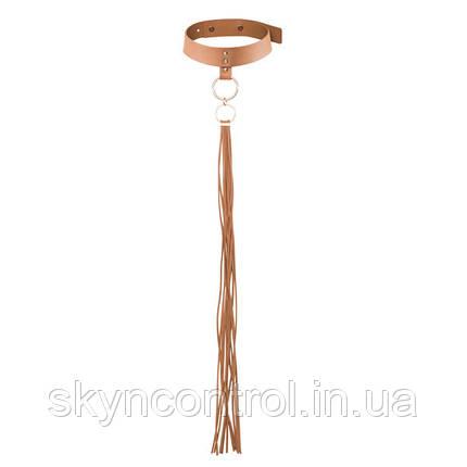 Полиуретановый чокер Bijoux MAZE Tassel choker broun, фото 2