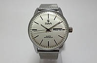 Часы стальные мужские Slava Old School - стальной браслет
