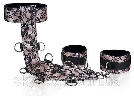 Deluxe Neck & Wrist Cuffs Набор шнуров для любви с украшением из благородных кружев, фото 2