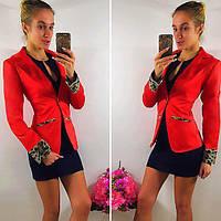 Пиджак женский 42-46р цвет красный