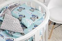 Детский постельный набор в коляску (с съемным утеплителем) № 5-6