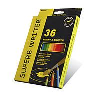 Цветные акварельные карандаши marco 4120-36СВ superb writer на 36 цветов