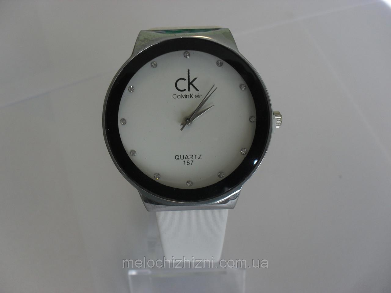 Женские часы quartz  белые серебро (Арт. 167)