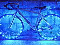 Светодиодная подсветка на спицы для велосипеда  Синий