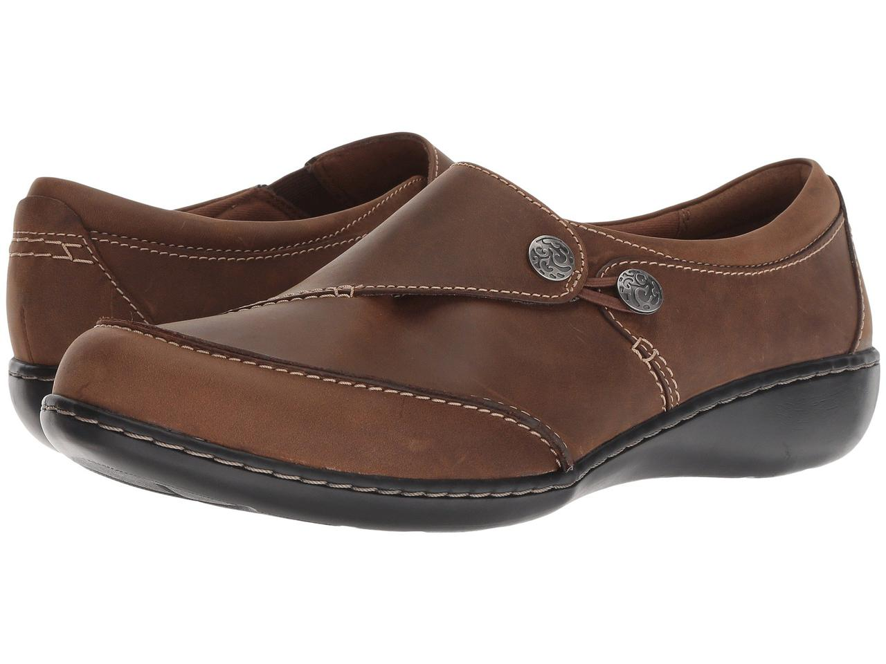 Мокасины (Оригинал) Clarks Ashland Lane Q Dark Tan Leather