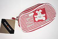 Пенал школьный Madisson для девочки красный мишка