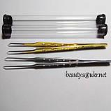 Пинцет AS 04 изогнутый,для 2D, 3D, с перфорацией, в колбе, золото., фото 2
