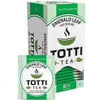 Зеленый чай TOTTI Tea Изумрудный лист в пакетиках 25 шт