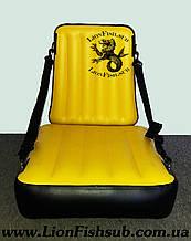 Кресло LionFish.sub Надувное сиденье в Лодку или Байдарку с Регулировкой Наклона Спинки, Универсальное из ПВХ