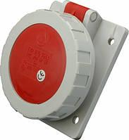 Розетка стаціонарна для прихованої проводки SEZ IEG 1653 3P+PE+N 16A 380V IP67