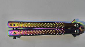 Нож-бабочка супер перламутр бензин, фото 2