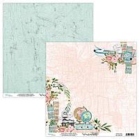 Папір двосторонній - 03 - Wanderlust - Mintay Paper - 30x30