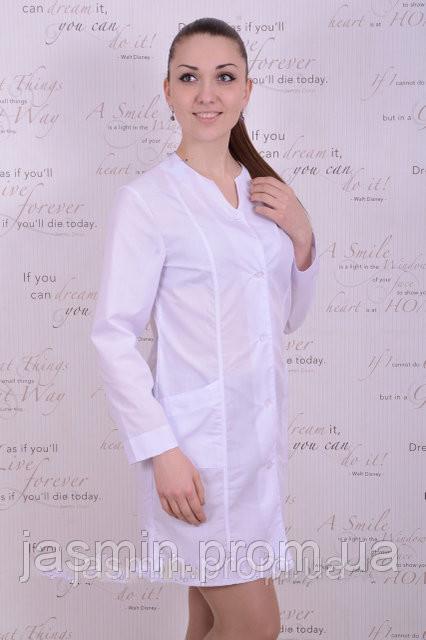 6375975981f1c Купить медицинский халат с длинным рукавом - Интернет магазин одежды Жасмин.  в Хмельницком