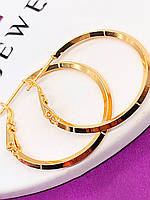 Серьги-кольца 3 см XР. Медицинское золото. Код:5256