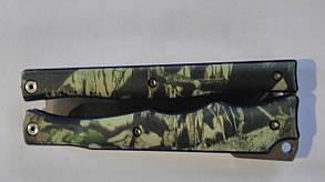 Нож-бабочка супер камуфляж силикон., фото 2