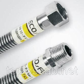 "Гибкий шланг Eco-Flex 1/2""х3/4"" ВВ 60 см. для газа/стандарт, фото 2"