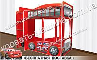 Двухъярусная кровать  Автобус Лондон 1700х1500х870, фото 1