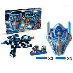 """Игровой набор9914Cавтомат с поролоновыми снарядами, мишень, маской """"Оптимус Прайм"""""""