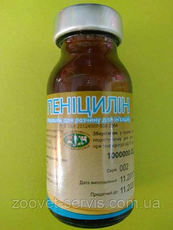 Пенициллин флакон - 1000000 ЕД, фото 2