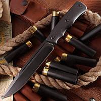 Нож нескладной Капрал 2, цельнометаллический нож с мощным клинком