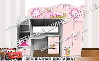 Кровать чердак Принцесса 2150х1800х836