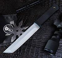 Тактический нож нескладной Тантоид, с тканевым чехлом в комплекте