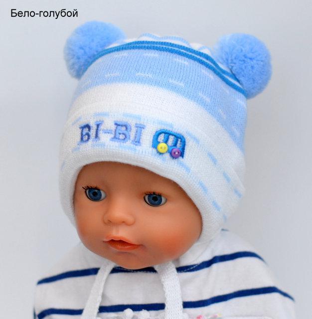 Шапочка для новорожденного мальчика
