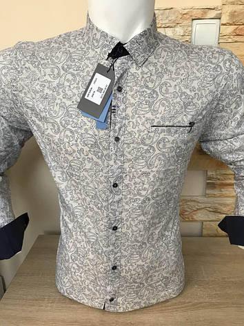 Акция!!! Рубашка длинный рукав Mir Taron  беж, фото 2