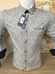 Акция!!! Рубашка длинный рукав Mir Taron  беж