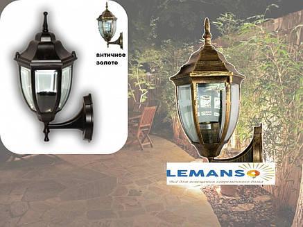 Настенный садово-парковый светильник бра античное золото прозрачное стекло Lemanso PL5101, фото 2