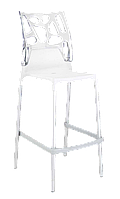 Барный стул Papatya Ego-Rock белое сиденье, верх прозрачно-чистый, фото 1