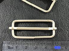 Перетяжка металева колір срібло 40 мм, фото 2