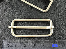 Перетяжка металлическая цвет серебро 40 мм, фото 2