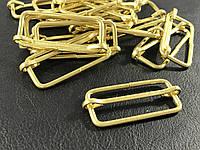 Перетяжка металлическая цвет золото 40 мм