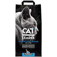 Наполнитель Cat Leader для кошек ультра-комкующийся глиняный, 10 кг