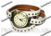 Молодежные дизайнерские наручные часы белого цвета, фото 2
