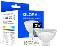 Светодиодная лампа Global MR16 3W 4100K 198-242V GU5.3 (1-GBL-212)