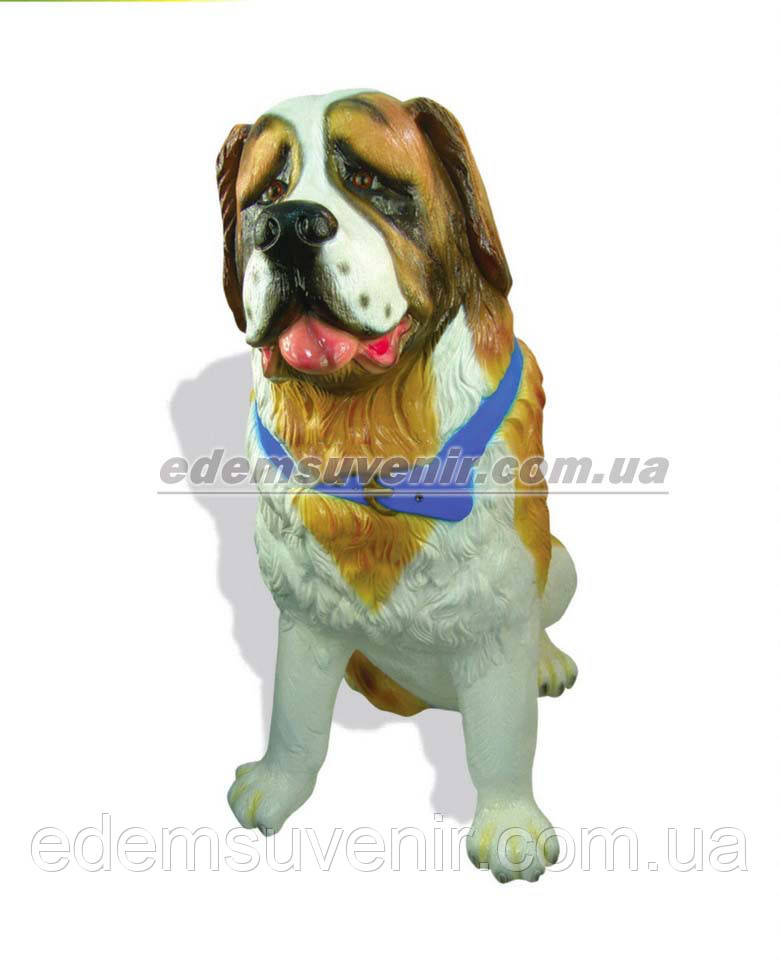 Набивная садовая фигура собака Сенбернар
