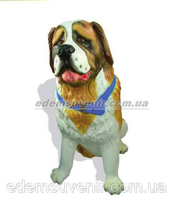 Набивная садовая фигура собака Сенбернар, фото 2