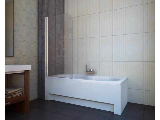Шторка для ванни Koller Pool QP93 75х140 прозора (Австрія) лівостороння