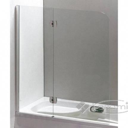 Шторка на ванну 120 * 150 ліва / права, профіль хром, скло прозоре 6 мм., фото 2
