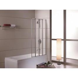 Шторка на ванну 89 * 140, профіль сатин, скло прозоре 5 мм.