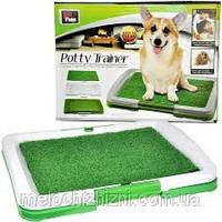 Туалет для собак Puppy Potty Pad, размеры: 47х34х6 см., фото 1